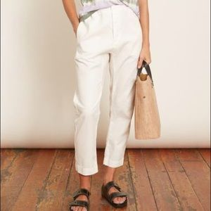 Everlane White Button-Front Pants Size 4